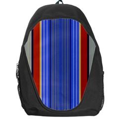 Colorful Stripes Background Backpack Bag