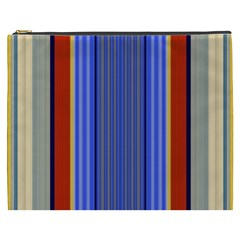 Colorful Stripes Background Cosmetic Bag (XXXL)
