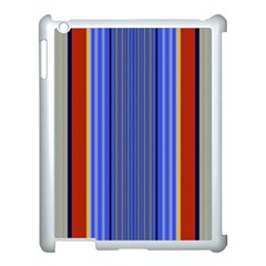 Colorful Stripes Background Apple Ipad 3/4 Case (white)