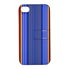 Colorful Stripes Background Apple iPhone 4/4S Hardshell Case with Stand