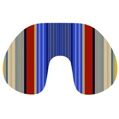 Colorful Stripes Background Travel Neck Pillows
