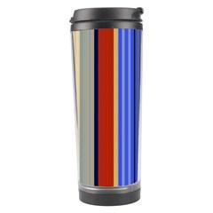 Colorful Stripes Background Travel Tumbler
