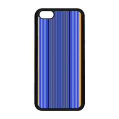 Colorful Stripes Background Apple Iphone 5c Seamless Case (black)