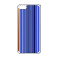 Colorful Stripes Background Apple iPhone 5C Seamless Case (White)
