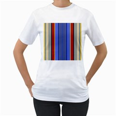 Colorful Stripes Background Women s T-Shirt (White)
