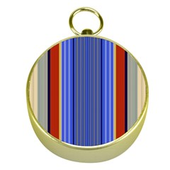 Colorful Stripes Background Gold Compasses