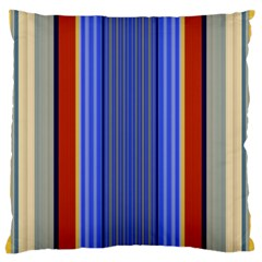 Colorful Stripes Background Large Flano Cushion Case (one Side)