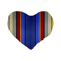 Colorful Stripes Background Standard 16  Premium Flano Heart Shape Cushions
