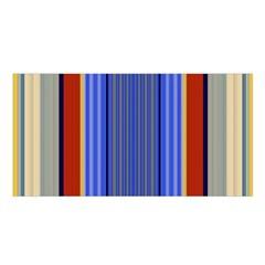 Colorful Stripes Background Satin Shawl