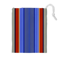 Colorful Stripes Background Drawstring Pouches (extra Large)