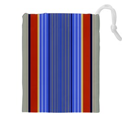 Colorful Stripes Background Drawstring Pouches (XXL)