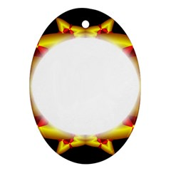 Circle Fractal Frame Ornament (Oval)