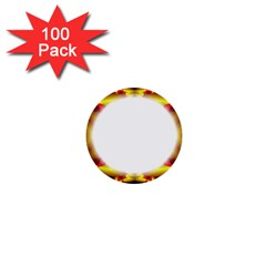 Circle Fractal Frame 1  Mini Buttons (100 Pack)