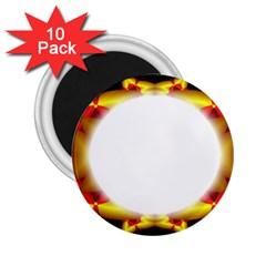 Circle Fractal Frame 2 25  Magnets (10 Pack)