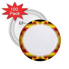 Circle Fractal Frame 2 25  Buttons (100 Pack)