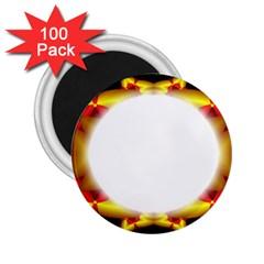 Circle Fractal Frame 2 25  Magnets (100 Pack)
