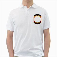 Circle Fractal Frame Golf Shirts