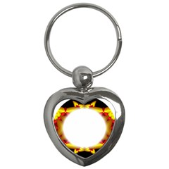 Circle Fractal Frame Key Chains (Heart)