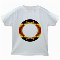Circle Fractal Frame Kids White T-Shirts