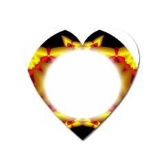 Circle Fractal Frame Heart Magnet