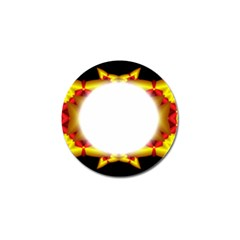 Circle Fractal Frame Golf Ball Marker (4 Pack)