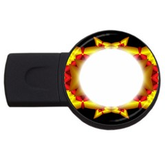 Circle Fractal Frame USB Flash Drive Round (2 GB)