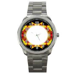 Circle Fractal Frame Sport Metal Watch