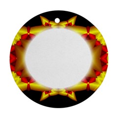 Circle Fractal Frame Round Ornament (Two Sides)