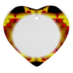 Circle Fractal Frame Heart Ornament (Two Sides)