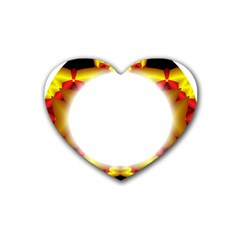 Circle Fractal Frame Heart Coaster (4 Pack)