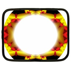 Circle Fractal Frame Netbook Case (large)