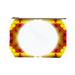 Circle Fractal Frame Cosmetic Bag (large)