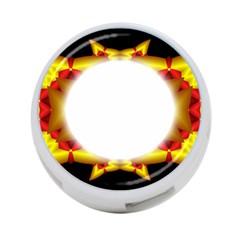 Circle Fractal Frame 4 Port Usb Hub (one Side)