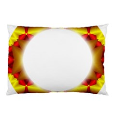 Circle Fractal Frame Pillow Case (Two Sides)