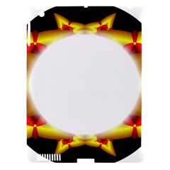 Circle Fractal Frame Apple iPad 3/4 Hardshell Case (Compatible with Smart Cover)