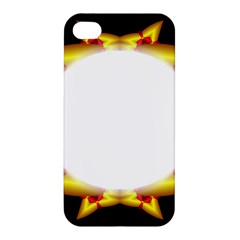 Circle Fractal Frame Apple iPhone 4/4S Premium Hardshell Case