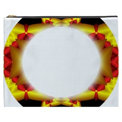 Circle Fractal Frame Cosmetic Bag (XXXL)