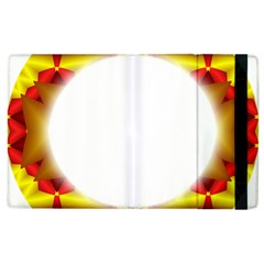 Circle Fractal Frame Apple iPad 2 Flip Case