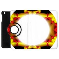 Circle Fractal Frame Apple iPad Mini Flip 360 Case