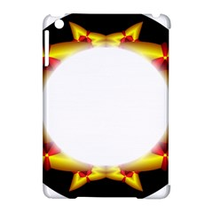 Circle Fractal Frame Apple iPad Mini Hardshell Case (Compatible with Smart Cover)