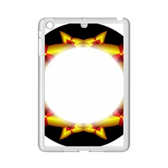 Circle Fractal Frame iPad Mini 2 Enamel Coated Cases