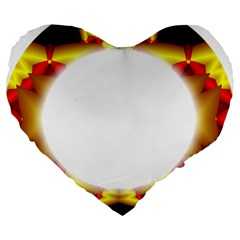 Circle Fractal Frame Large 19  Premium Heart Shape Cushions