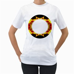 Circle Fractal Frame Women s T Shirt (white)