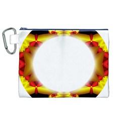 Circle Fractal Frame Canvas Cosmetic Bag (XL)