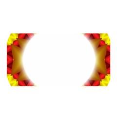 Circle Fractal Frame Satin Wrap