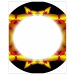 Circle Fractal Frame Drawstring Bag (Small) Back