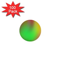 November Blurry Brilliant Colors 1  Mini Buttons (100 pack)