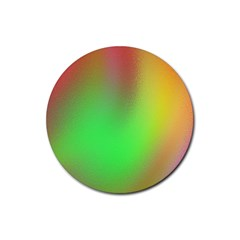 November Blurry Brilliant Colors Rubber Round Coaster (4 Pack)