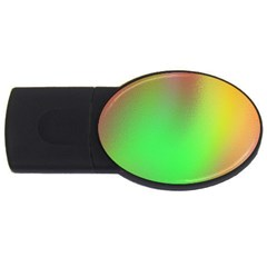 November Blurry Brilliant Colors USB Flash Drive Oval (1 GB)