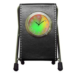 November Blurry Brilliant Colors Pen Holder Desk Clocks